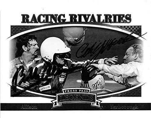 Bobby Allison Cale Yarborough Fight autographed trading card 2007 Press Pass #64 Racing Rivalries Nascar ()