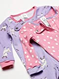 Gerber Baby Girls Organic 2 Pack Cotton Footed