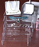 Clear Acrylic Risers for Counters, Set of 5 U-shaped Display Stands, 5 Different-sized Fixtures