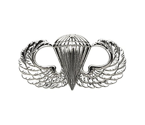 (Parachutist Jump Wing Basic US Army Badge (Brite, Fullsize) )