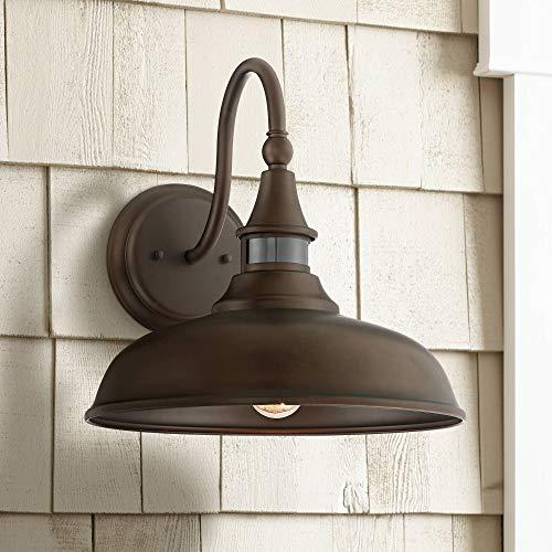 """Gough 12 1/2"""" High Bronze Motion Sensor Outdoor Wall Light - John Timberland"""