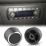ROCCS 2x Rear Radio Control Knob Audio Buttons for 2007-2013 Chevrolet Chevy GMC Tahoe Silverado Acadia Sierra Denali Yukon GM 22912547
