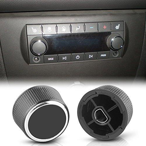 ROCCS 2x Rear Radio Control Knob Audio Buttons for 2007-2013 Chevrolet Chevy GMC Tahoe Silverado Acadia Sierra Denali Yukon GM 22912547 ()