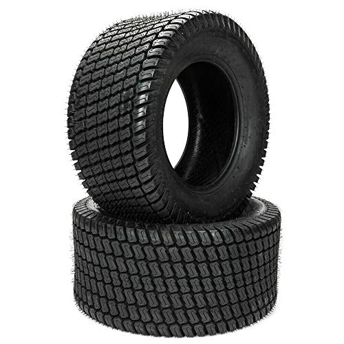 SUNROAD 2pcs 24×12.00-12 8PR Turf Tires for Lawn & Garden Mower Lawnmower Golf Cart Turf Tread P332 Tubeless