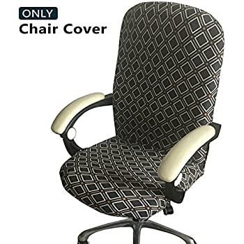 Meloshow Office Chair Cover   Universal Stretch Desk Chair Cover, Computer  Chair Slipcovers (Size: L)