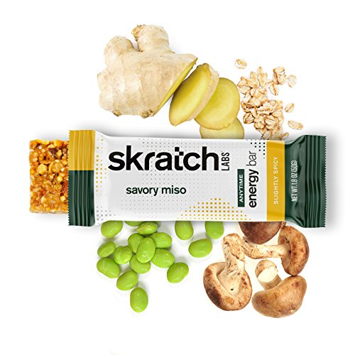 Skratch Labs: NEW Anytime Energy Bars, Ginger and Miso, 12-pack box (non GMO, vegan, kosher, dairy free, gluten free, low sugar, delicious) by Skratch Labs