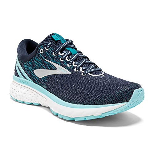 Brooks Womens Ghost 11 Running Shoe - Navy/Grey/Blue - B - 5.0