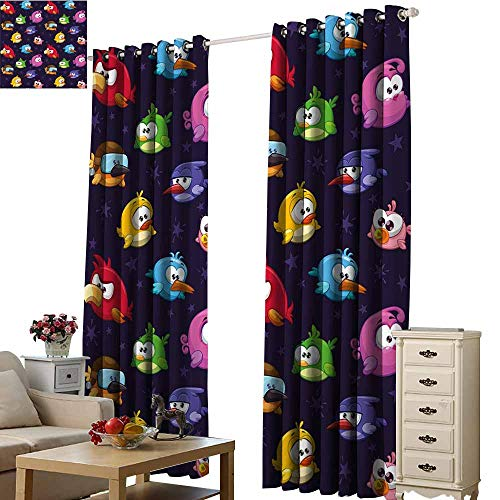 S Brave Sky Blackout Draperies for Bedroom,Single-Sided Printing Pattern W108 xL84,Suitable for Bedroom Living Room Study, etc. -