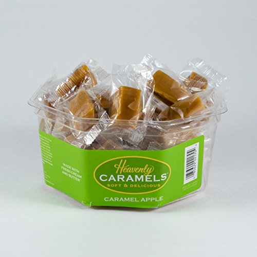 - J Morgan Confections Heavenly Caramels, Caramel Apple Flavor (1 lb 2 oz, 45 ct, Single-Pack); Gourmet, Artisan Soft and Chewy Butter Caramel Candies, Creamy and Smooth, Hand-Crafted Golden Treats
