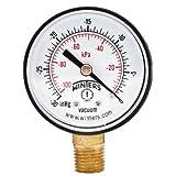 """Winters PEM Series Plastic Dual Scale Economy Pressure Gauge, 30""""Hg Vacuum/kpa, 2"""" Dial Display, -3-2-3% Accuracy, 1/4"""" NPT Bottom Mount"""