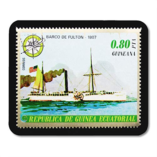 Emvency Mouse Pads Moscow Russia January Stamp Printed in Equatorial Guinea Shows Mouse Pad for notebooks, Desktop Computers mats 9.5