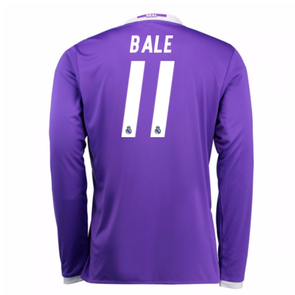 2016-17 Real Madrid Away Shirt (Bale 11) Kids B077VF96S4Purple Large Boys 30-32\