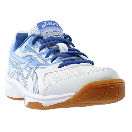 ASICS Women's Upcourt 2 Volleyball Shoe, White/Regatta Blue/Airly Blue, 8.5 Medium US by ASICS