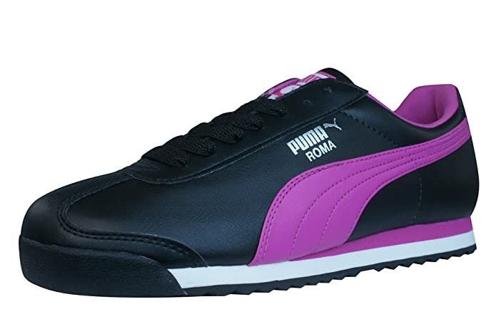Amazon.com | PUMA Roma Basic Womens Sneakers - Shoes-Black-6 | Fashion Sneakers