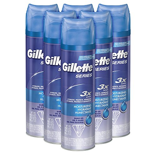 Gillette TGS Series Shave Gel, Moisturizing, 7 Ounce (Pack of 6) ()