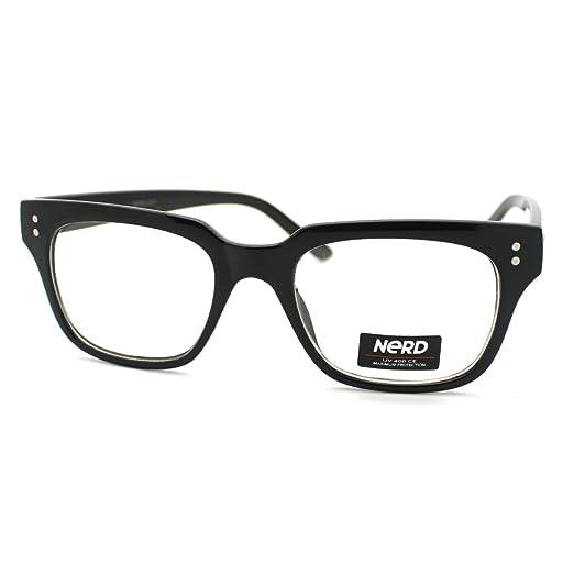 Amazon.com: Black Petite Square Horn Rim Frame Fashion Nerdy ...