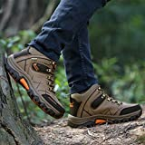 GOMNEAR Hiking Boots Men High Top Trekking Shoes