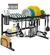 Dish Drying Rack Over The Sink -Adjustable Large Dish Rack Drainer for Kitchen Organization Stora...