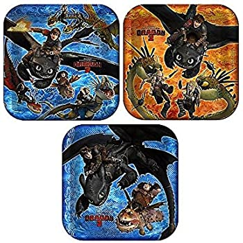 Amazon how to train your dragon party dinner plates toys games how to train your dragon 9 luncheon plates 8 pack ccuart Gallery