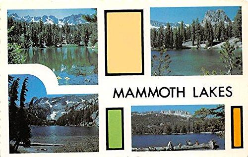 Emerald, TJ, Barrett and Horseshoe Mammoth Lakes, CA, USA Large Letter Postcard (Emerald Horseshoe)