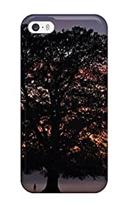 AnnaSanders Iphone 5/5s Well-designed Hard Case Cover Awesome Big Tree Sunset Fog Digital Protector by lolosakes