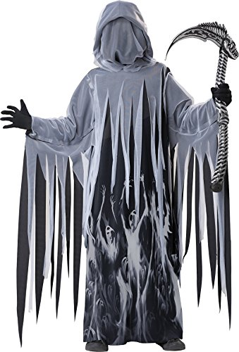 UHC Boy's Ghost of Christmas Soul Taker Grim Reaper Outfit Child Costume, Child XL (12-14)