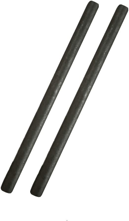 2pcs Carbon Stirring Rod Graphite Stick for Melting Mixing Silver/&Gold 1//2x12