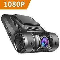 Virtoba Vikcam Telecamera per Auto Dash Cam 1080P Full HD Videocamera Veicoli Registratore Visione Notturna, 170 Gradi, Registrazione di Emergenza, G-Sensor ,Rilevatore di Movimento, Registrazione in loop