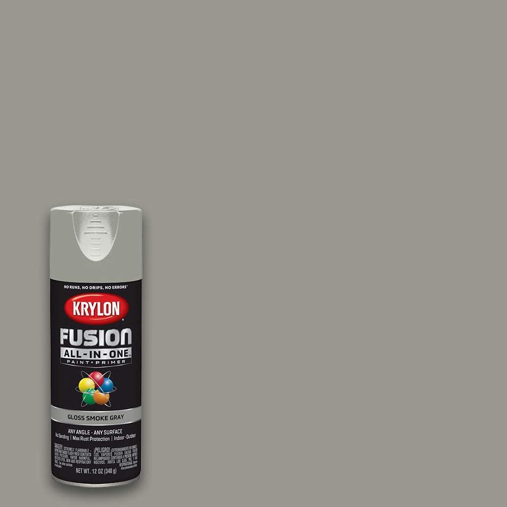 Krylon K02723007 Fusion All-In-One spray-paints, Smoke Gray