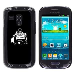 // PHONE CASE GIFT // Duro Estuche protector PC Cáscara Plástico Carcasa Funda Hard Protective Case for Samsung Galaxy S3 MINI 8190 / ¿Quieres Cambio /