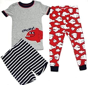 a81eea0ae2 Amazon.com: Carter's Boys 3-piece Cotton Knit Red, White & Blue ...