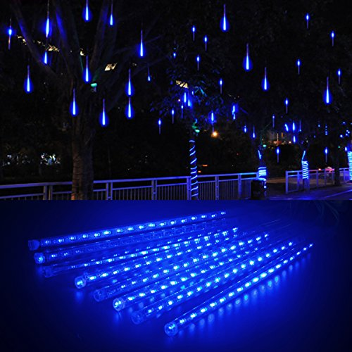 Blue Led Icicle Xmas Lights in Florida - 8