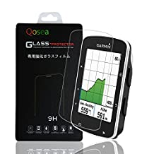 Garmin Edge 520 Screen Protector(2 PACK), Qosea Ultra-thin 9H Hardness Crystal Clear Scratch Resistant Tempered Glass Screen Protector for Garmin Edge 520 Smartwatch