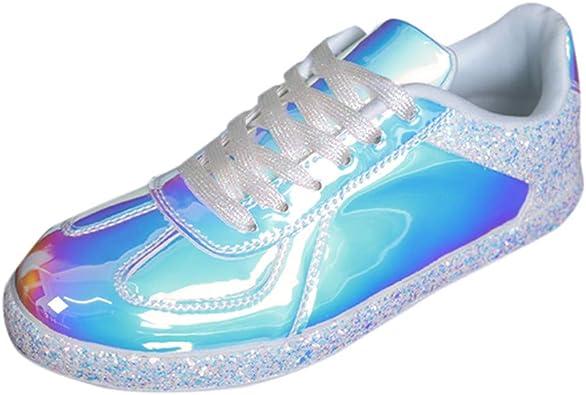 Zapatillas de Deportivos de Running para Mujer Serie Colorida Zapatos Casuales Reflectantes Zapatillas Deportivas para Correr Ligero Comodos Respirable 36-41 riou: Amazon.es: Zapatos y complementos