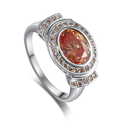 Swiss CZ Crystal Diamond Wedding Ring - 9