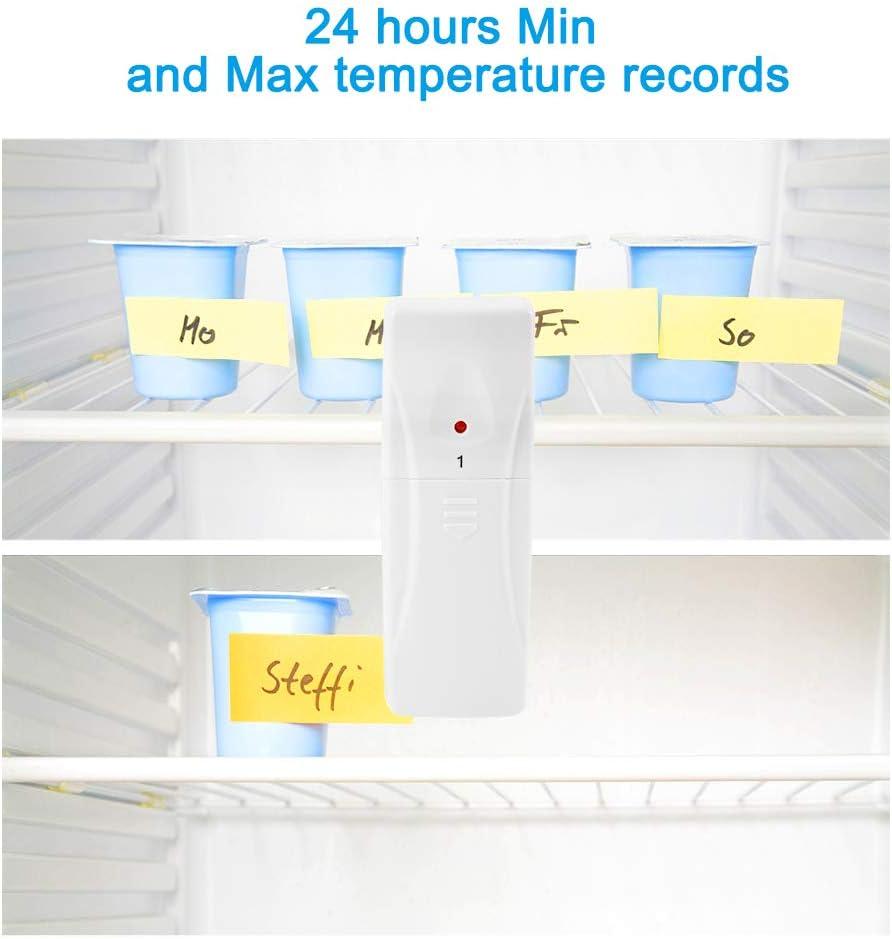 Termómetro del refrigerador Termómetro sin hilos del congelador ...