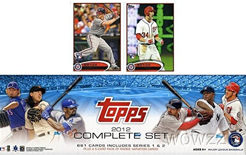Exclusive 666 Card Factory Sealed Factory Retail Set with Two Bryce Harper Variation Rookie Cards (Topps Factory Set Baseball)