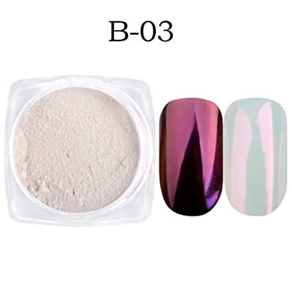 Juego de 7 cajas de esmalte de uñas con purpurina y efecto espejo, para decoración