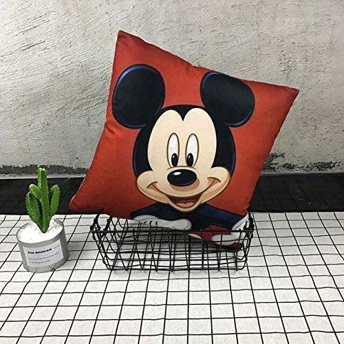 (LeoVatino 10 Styles 4040cm Unstuffed Mickey Mouse Pillow Minnie Mouse Pillow Case Mickey and Minnie Children's Cartoon Pillow Cover)