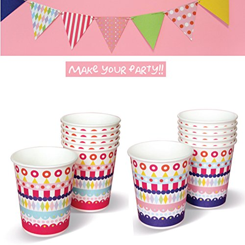 Party Paper Cup Fantastic Design Disposable one 10oz 30pcs from BaboSarang