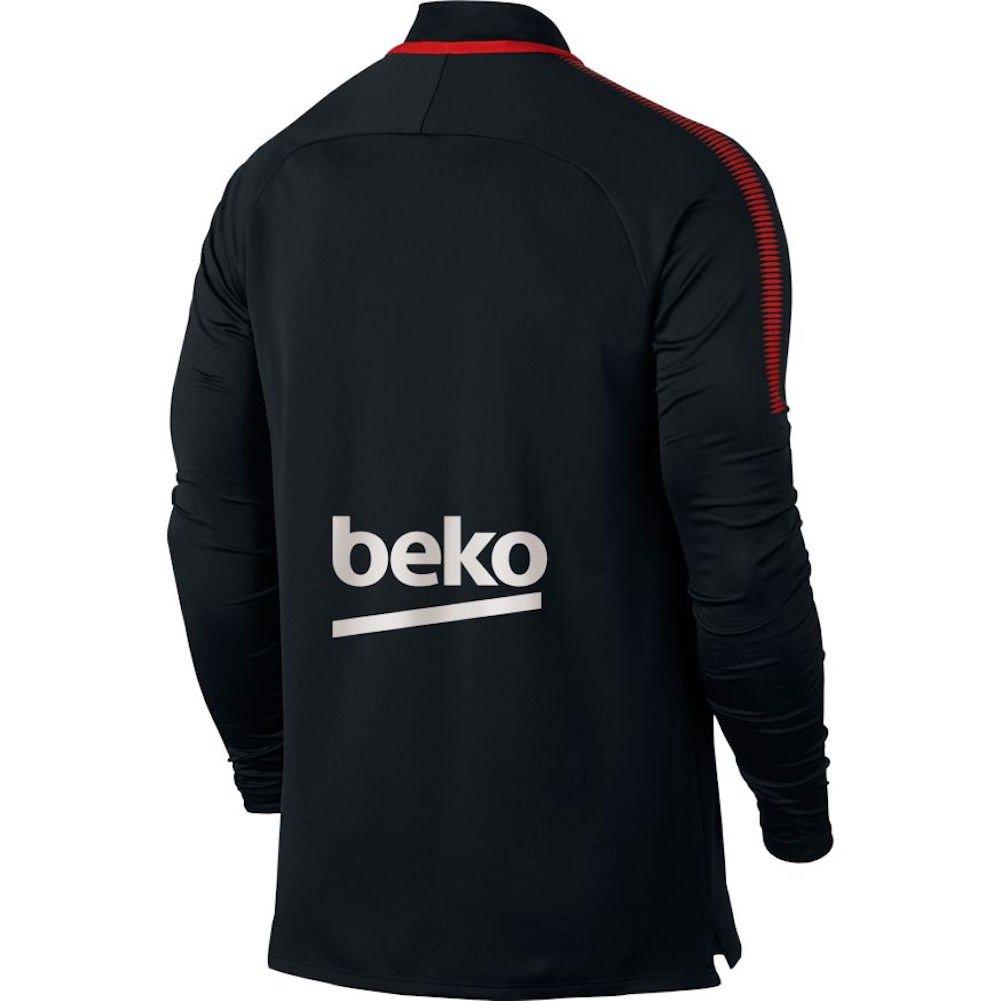 b3fed477d Amazon.com  NIKE Mens FCB Barcelona Long Sleeve Dry Drill Top  Black University Red 854191-011 Size X-Large  Clothing