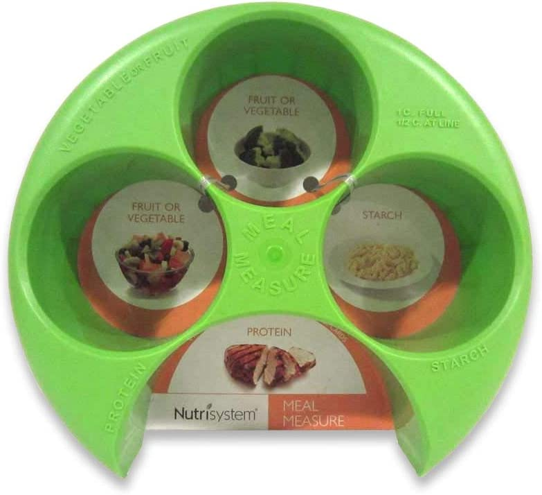 Nutrisystem Meal Measure Food Portion Control for Weight Loss Diet GREEN