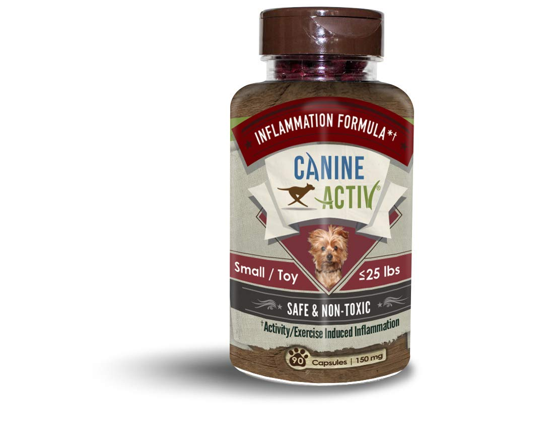 CanineActiv Mobility Supplement for Dogs for Exercise and Activity Induced Inflammation, Small Breeds (90ct) by CanineActiv