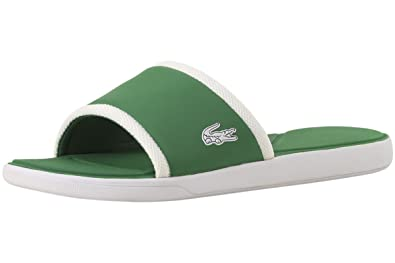 963188e4e7b5f9 Lacoste Men s L.30 Slide 317 1 White Green 13 M ...