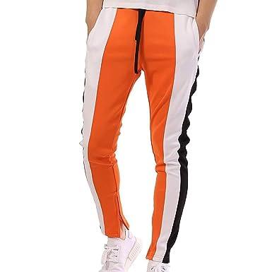 Juleya Hombre Pantalones de chándal Pantalones de Fitness Hiphop ...