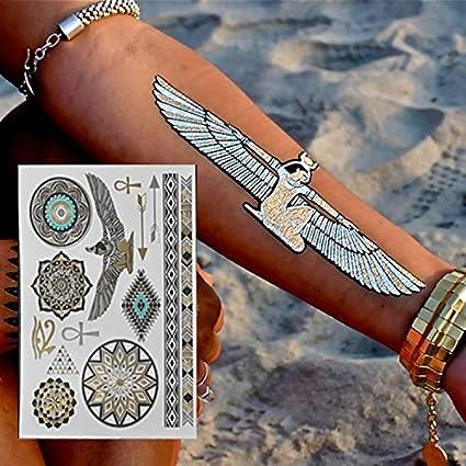 lijinjin Etiquetas Engomadas Temporales Egipcias del Tatuaje del ...