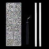 Outuxed 5040pcs Crystal AB Hotfix Rhinestones 6