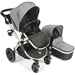 Baby Roues LeTour Avant Canvas Stroller with Bassinet - Silver / Silver Frame