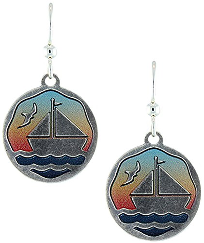 Earth Dreams- Sailboat Earrings (Without Beads)