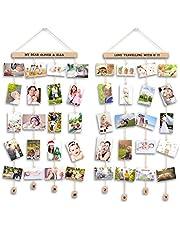 Uping Cornice Portafoto Multipla Cornice Foto Collage da Parete, per Appendere Foto Wall Decor (Set di 2, con Adesivi di Lettere e Numeri)